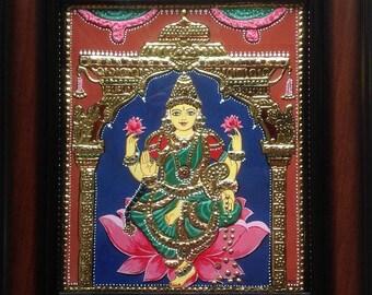 Tanjore Painting Mahalakshmi