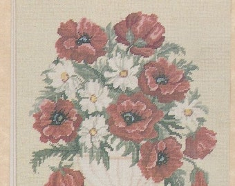 Helen Burgess Counted Thread Design. Bowl of Roses Pattern. HB4083.