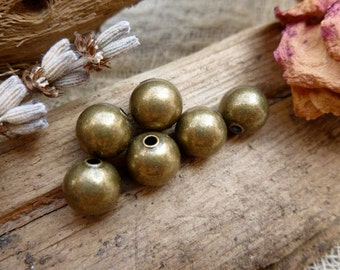10x Brass Spacer Metal Beads, Charm, Findings, Jewellery Making C522