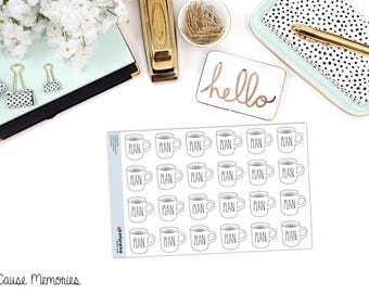 WORD MUG (Multiple Options Available) Paper Planner Stickers