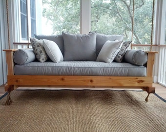 """Porch Swing: The """"Daniel Island"""" Swing Bed -- FREE SHIPPING (Bedswing)"""
