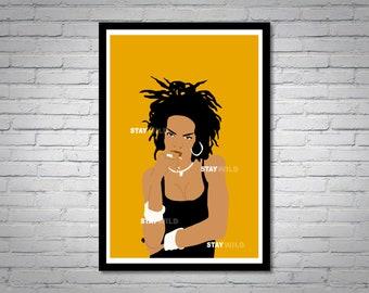 Lauryn Hill Yellow Wall Art Print