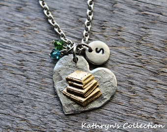 Book Necklace, Book Jewelry