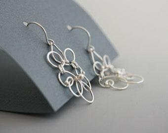 sterling silver chandelier earrings, women jewelry, boho earrings, dangle earrings, long dangle earrings - Elance  gift for her