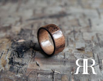 African Walnut Bentwood Ring - Men's/Women's Ring - Promise Ring - Wedding/Engagement Ring - Wooden Ring - Handmade