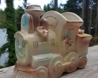 Ceramic Train Planter, Nursery Train Decor, The Little Engine That Could, Train Decor, Vintage Nursery Decor