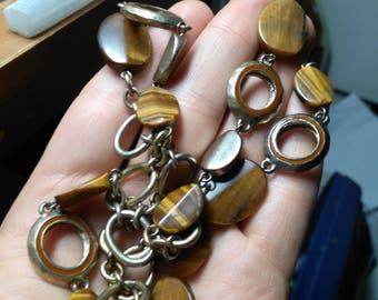 Ellen Tracy tiger's eye necklace
