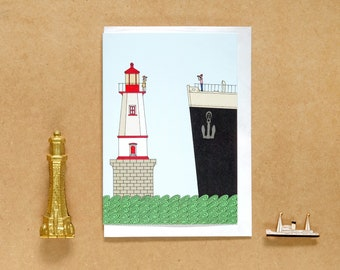 The Lighthouse Keeper's Mate  - A6 Greetings Card - Romantic Card - Valentines / Anniversary Card