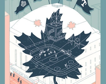 Maple Leaf Gardens, second edition giclee print