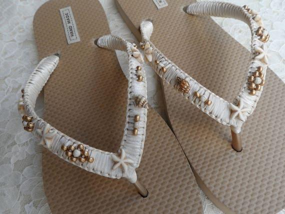 Style Shell Gold Flip Flops Flip Flops Beach Starfish Bohemian Bridal Flops Sandals Flops Flip Shell wedding Flip and Summer Beach qXfRPwg