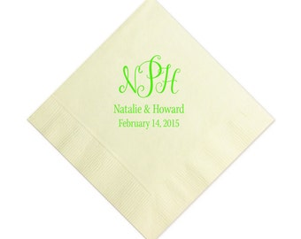 Beverage Napkins~100 Monogram
