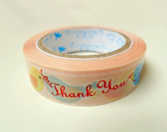 Bird Plastic Tape - 15m,Cute Tape,Bird Tape,Diary Tape
