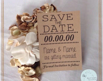 Save the Date Memo Card - pack of 20