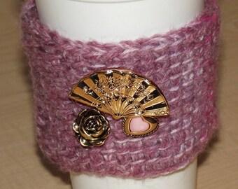 Golden Fan Coffee Cup Cozy