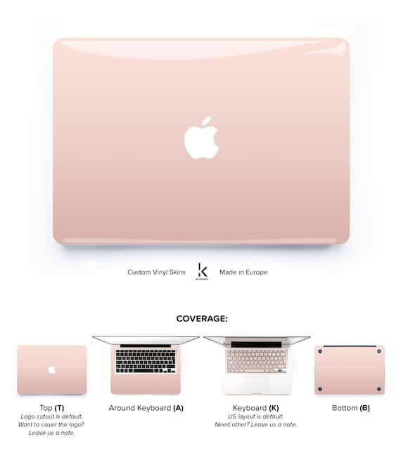 Rose Gold Ombre Laptop Skin Macbook Pro Skin Macbook Air Skin