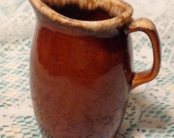 Vintage Hull Brown Drip Pottery Pitcher - Hull Walnut Ridge Pitcher  -  17-152