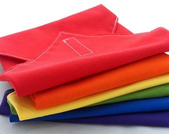 Rainbow Reusable Sandwich Wraps - Set of 6