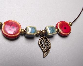 Ceramic neck, Choker necklace, Pearl Choker.
