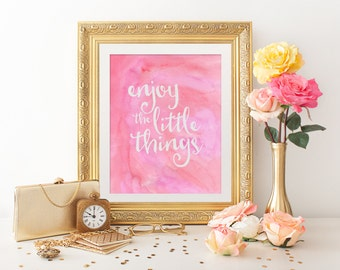 Printable Art - Digital Art - Inspirational Quote - Watercolor Art - Printable Quote - Wall Art Print - Wall Art Quote - Wall Quote - Quote