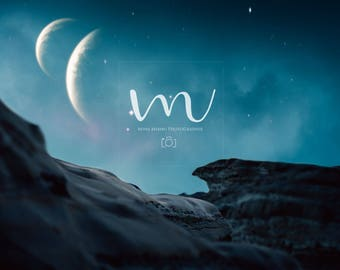 Fantasy/ Moon/ Superhero/ Night Sky/ Digital Background