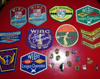25 1960s Bowling Patches and Pins