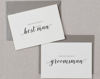 7 x Thank You For Being My Best Man, Thank You Card Groomsman, Best Man Card, Thank You Card, Thank You Wedding Cards, Usher, Best Man, K3