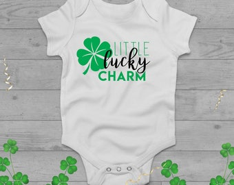 Little Lucky Charm St. Patrick's Day Onesie and Raglan Tee