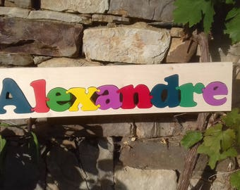 Wooden name, and if I write your name in puzzle! wooden
