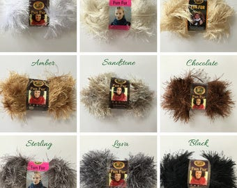 Lion Brand Fun Fur, Fun Fur Yarn, Fun Fur, Novelty Yarn, Eyelash Yarn, Lion Brand Yarn, Furry Yarn, Fancy Yarn, Crochet Supplies