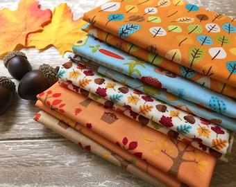 Fall 5 Piece 1/2 Yard Bundle, Autumn Fabric, Harvest Bundle