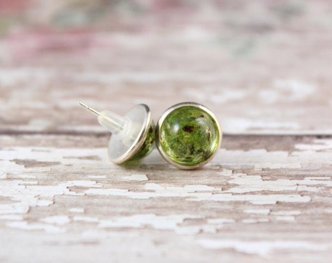Small Moss Stud Earrings