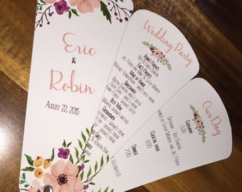 Wedding program fan etsy solutioingenieria Image collections