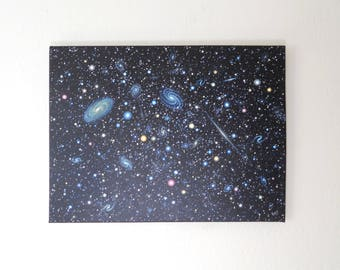 Cosmos 7 - Original acrylic space painting on stretched canvas, 18 x 24, ready to hang