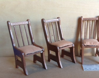 3 Dollhouse Chairs