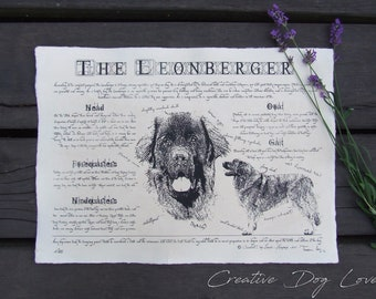 Antique styled dog standard - Leonberger