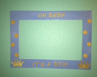 Prince Photo Booth Frame for Baby Shower!