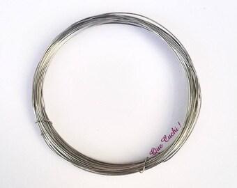 1 mètre du fil d'acier inox de 0,5 mm pour loisir créatif