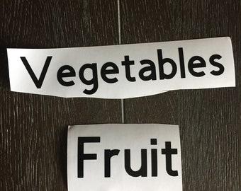 Fruit & vegetable drawer labels