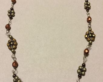 Flower Necklace– Copper