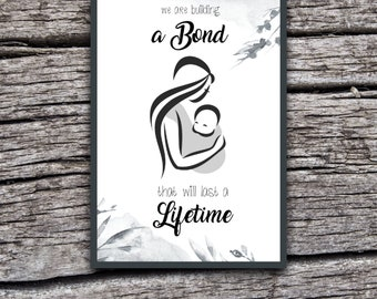 We are building a bond that will last a lifetime - Wrap - Sling - Ringsling - Carrier - Baby - Mom - Babywearing - Printable - Download - A5