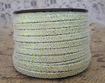 5mm flat double lime Crackle high European quality leather strap