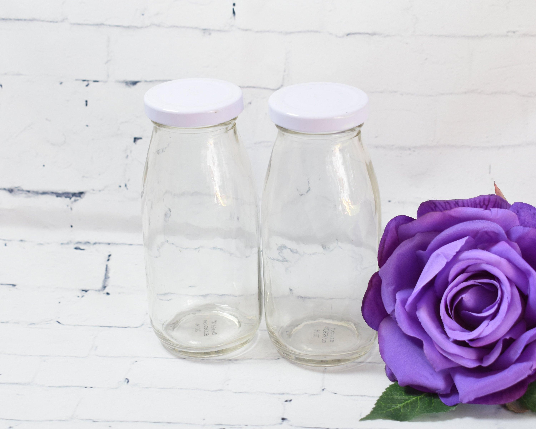 24 DIY Vintage Mini Milk Glass Bottles Glass Bottles Mini