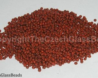 20g CZECH SEED BEADS 10/0 wild cherry picasso 30