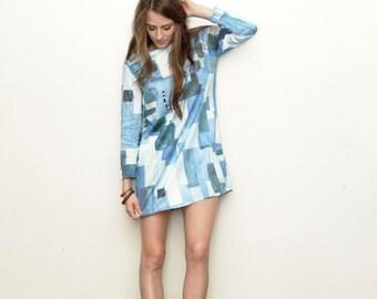 The Boro Print Shift Dress