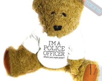 Police Officer Novelty Gift Teddy Bear