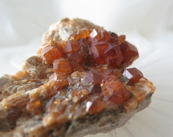 57g Raw Spessartine Garnet From Ming Xi Mine, Fu Jian, China - ITEM #140 - 6 x 4 x 2.4cm