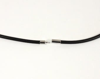Kit snap closure in brass silver plated 4 mm cord