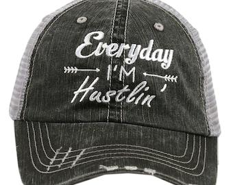 Everyday I'm Hustlin Trucker Hat - IAD-TC-124