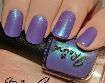 Violahh... - Blue Green Purple Duochrome Shimmer Nail Polish
