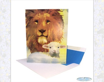 Easter Cards - Lion and Lamb Peace (Box Set)